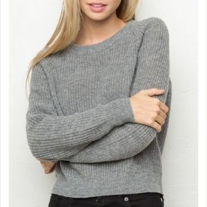 Brandy Melville Sabrina Knit Cropped Sweater